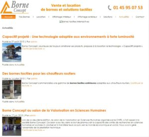 Actualités Site internet