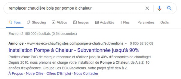 publicite-google-search-genie-climatique