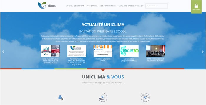 site-web-genie-climatique-uniclima