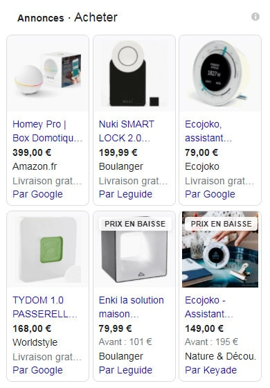 google-shopping-domotique