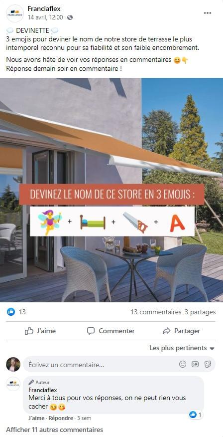 community-management-fermeture-franciaflex-facebook