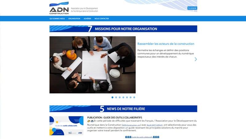 site web de ADN Construction
