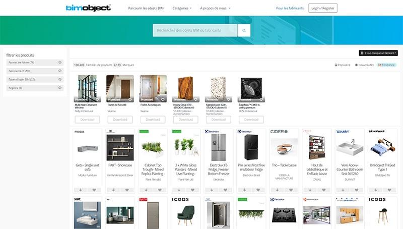 site web de Bim Object