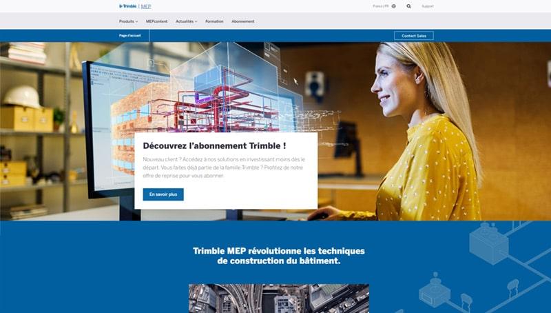 site web de Trimble MEP